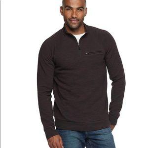 Marc Anthony Slim Fit Quarter Zip Sweater, Medium